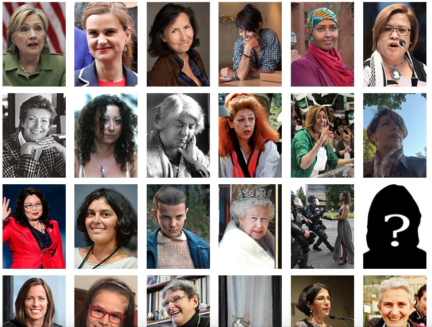 100 donne dell'anno 2016